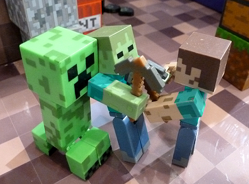 Minecraft Steve and Creeper Figures