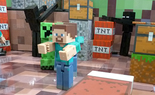 Minecraft Steve and Enderman Figures